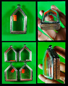 Thai Amulet Style Buddha Stainless Cases Holy Grade A Strong No 4
