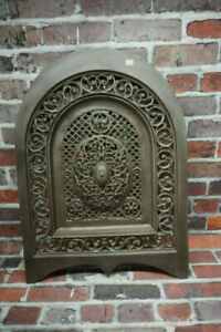 Antique Ornate Cast Iron Fireplace Summer Cover
