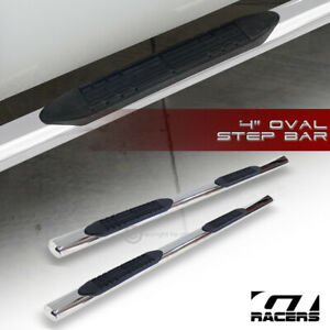 For 2005 2019 Tacoma Double Crew 4 Oval Chrome Side Step Bars Running Boards