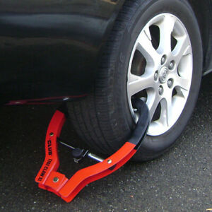 Vehicle Anti theft Device The Club Tire Claw Xl Trailer Red