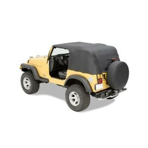 Pavement Ends 56811 01 Emergency Top Soft Top Black 1992 1993 Jeep Wrangler