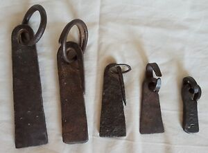 Antique Iberian Set Of Forged Iron Mercantile Trade Weights 17 18 Century