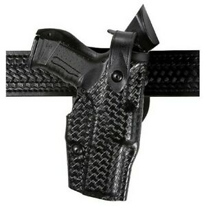 Safariland 6360 83 82 Duty Holster Black Basketweave Lh Fits Glock 17