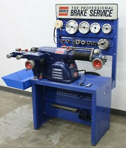 Ammco 4100 Disc Drum Brake Lathe Loaded W 3 jaw Double Chuck Adapter Kit