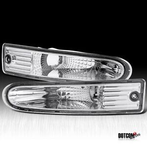 2000 2002 Mitsubishi Eclipse Crystal Clear Front Bumper Lights Turn Signal Lamps