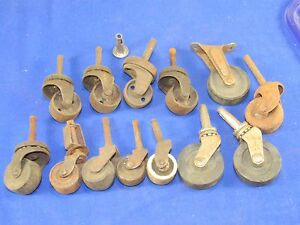 13pc Industrial Swivel Casters Rollers Wheels Furniture Cabinet Vintage Antique