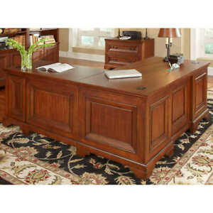 Ryland Desk W Return Lateral File Modern Look W Traditional Style Elements