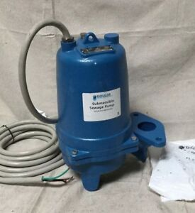 Goulds Water Technology 1 Hp Manual Submersible Sewage Pump 460 Voltage Ws1034bf