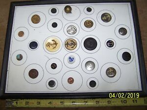 Collection Of 25 Antique Vintage Metal Military Uniform Buttons Anchor Navy
