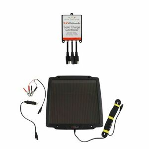 Schumacher Solar Battery Maintainer Trickle Charger W Controller Kit 4 2w 12v