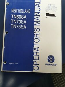 New Holland Tn60sa Tn70sa Tn75sa Operator s Manual