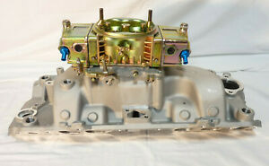 Bbc Chevy Aluminum Dual Plane Intake Manifold Oval Port With 850 Cfm Carb