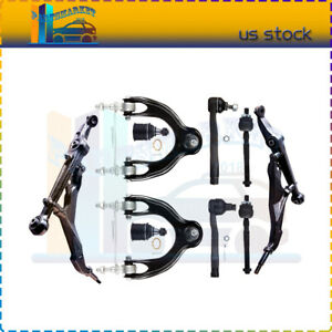 Fits For 1993 1995 Honda Civic Front All 10 Ball Joints Tie Rod Ends Control Arm