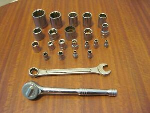 Lot Of 23pcs Of Mixed Husky Sockets Wrench Rachet From A Local Estate