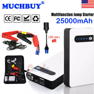 Portable Car Jump Starter 25000mah 400a Peak Emergency Battery Booster Charger