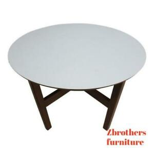Danish Modern Round End Table Lamp Stand