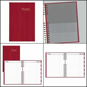 Brownline 2019 Coilpro Daily Planner Hard Cover Bright Red 10 125 X 7 875 Inc