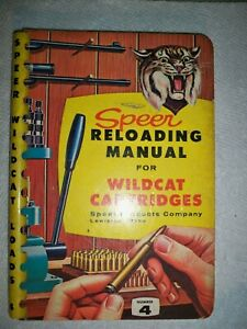 Vintage Speer Reloading Manual for wildcat cartridges 1959.