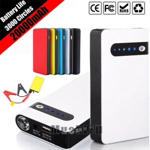 20000mah Portable Car Jump Starter Booster Jumper Box Power Bank Battery Charger