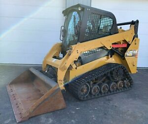 2016 Caterpillar 257d Rubber Track Skid Steer Cab Heat Ac Cat Loader 2 Speed
