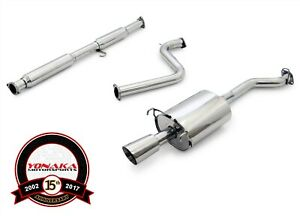 Yonaka 94 97 Honda Accord Stainless Steel Performance Cat back 2dr 4dr Cd5 Cd7