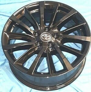 18 Toyota Highlander 2019 Oe Wheels 4 Gloss Black Alloy Rims 18x7 5