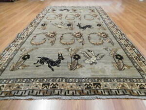 Ca1930s Vgdy Antique Oriental Qashqai Yalameh Hunting 5x9 2 Estate Sale Rug