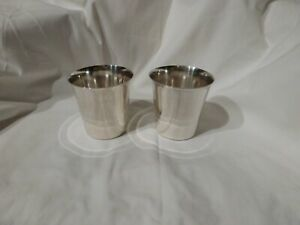 Vintage Set Of 2 International Sterling Silver P710 Mint Julep Cups 254 8 Grams