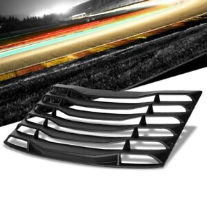 Matte Black Rear Window Louver Side Scoop Cover For 16 19 Chevrolet Camaro Coupe