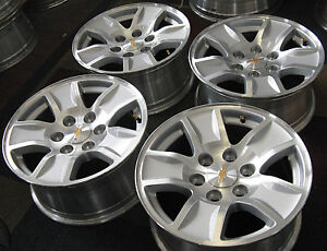 Gmc Chevy Truck Van Suv 17 Factory Original Oem 6 Lug Alloy Wheels Rims 5657