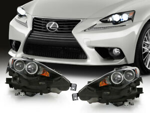 F Sport Led Dual Projector Headlight For 14 16 Is200t is250 Xenon Hid To Upgrade