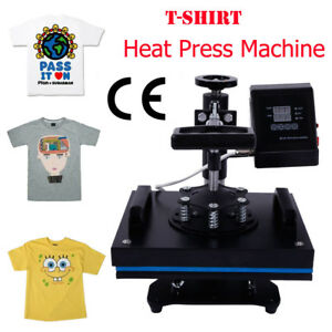 Heat Press Machine With Lcd Temperature Control For T shirt Black 110v 650w