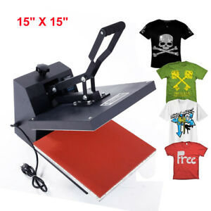 Hot Clamshell Digital Heat Press Machine T shirt Transfer Sublimation Diy New