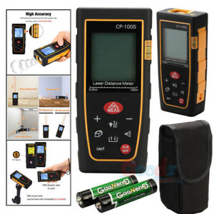Professional 100m 328ft Digital Lcd Laser Distance Meter Range Finder Measurer