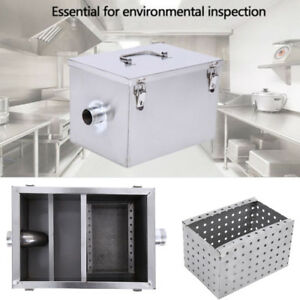 8lb 5gpm Commercial Grease Oil Trap Interceptor Stainless Steel Restaurant Use