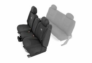 Rough Country Neoprene Front Seat Cover Set black 99 06 Silverado 1500 91013