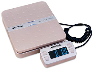 Accuteck Shippro W 8580 110lbs X 0 1 Oz Gold Digital Shipping Postal Scale Gold