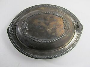 Vintage Ornate Sheridan Silver Plate Buffet Covered Serving Dish 11 7 8 X 9