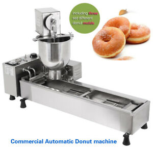 Automatic Commercial Donut Machine Donut Maker 1 Wider Oil Tank 3 Free Set Molds