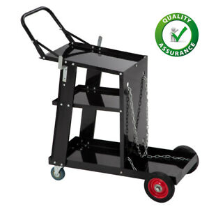 New Welding Cart Welder Plasma Cutter Cart 3 tier Universal Heavy Duty Mig Tig