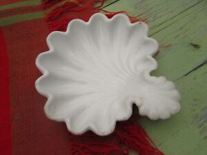 T R Boote 1851 Antique Scalloped Shell Ironstone Relish Pickle Dish Scarce