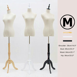 Fashion Female Mannequin Torso Clothing Clothes Dress Form Display tripod Stand