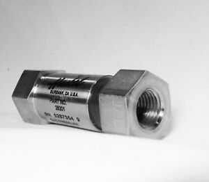 Haskel 28201 New 1 4 Check Valve Hyd 15 000 Psi 10 000 Gas Psi Stainless