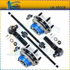 Fits 2000 2005 Cadillac Deville 6 X Wheel Hub Bearing Outer Inner Tie Rod Kit