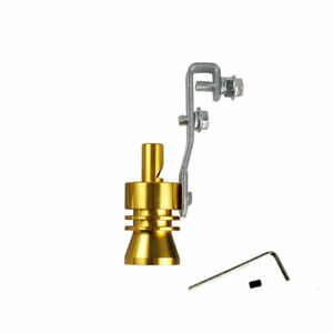 Xl Size Gold Turbo Sound Exhaust Blow Off Valve Simulator Whistler Universal