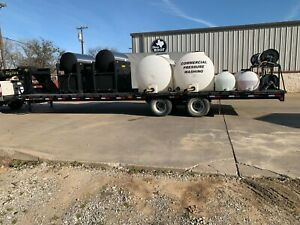 Pressure Washing Trailer Dual Landa Slx10 Units 700 Gal Tanks