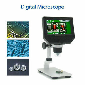 Digital Microscope 1080p 4 3 Hd Oled 3 6mp 1 600x Magnifier G600 Portable Lcd