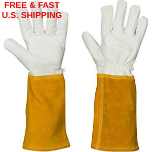 Mig Tig Welding Gloves Kevlar Stitching Hand Lining Tactile Leather Fireproof