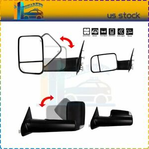 Power Heated Turn Signals Tow Mirrors For 2002 08 Dodge Ram 1500 03 09 2500 3500
