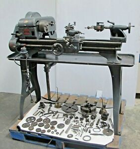 Logan Engine Lathe 10 X 24 Lot Of Tooling Vintage 110 Volt Made In Usa Rare
